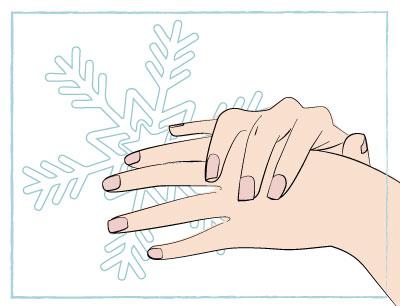 Proteger las manos y los pies en invierno